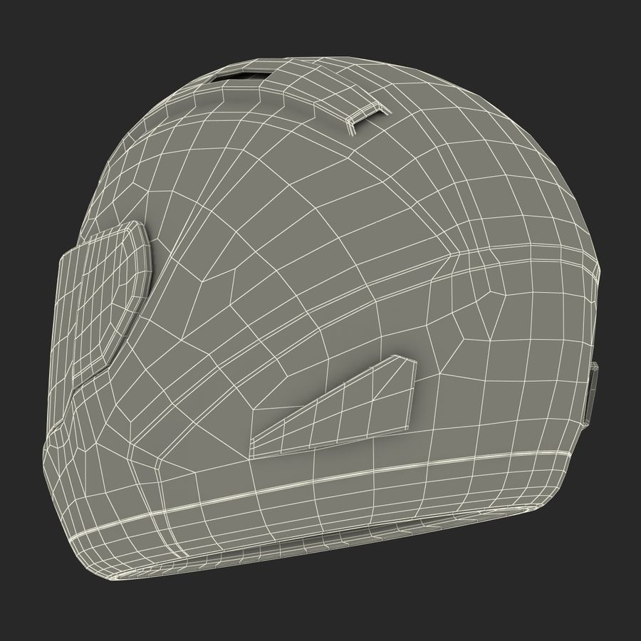 Motorcycle Helmet royalty-free 3d model - Preview no. 25