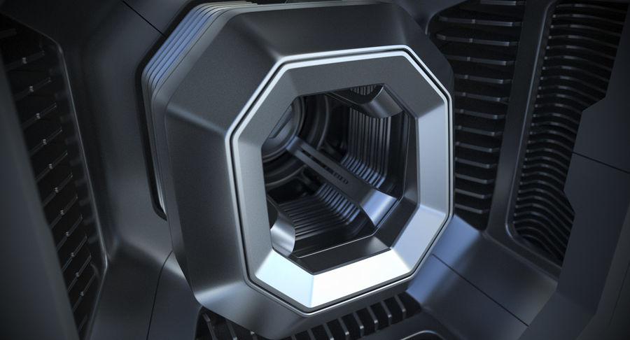 Sci Fi Box royalty-free 3d model - Preview no. 8