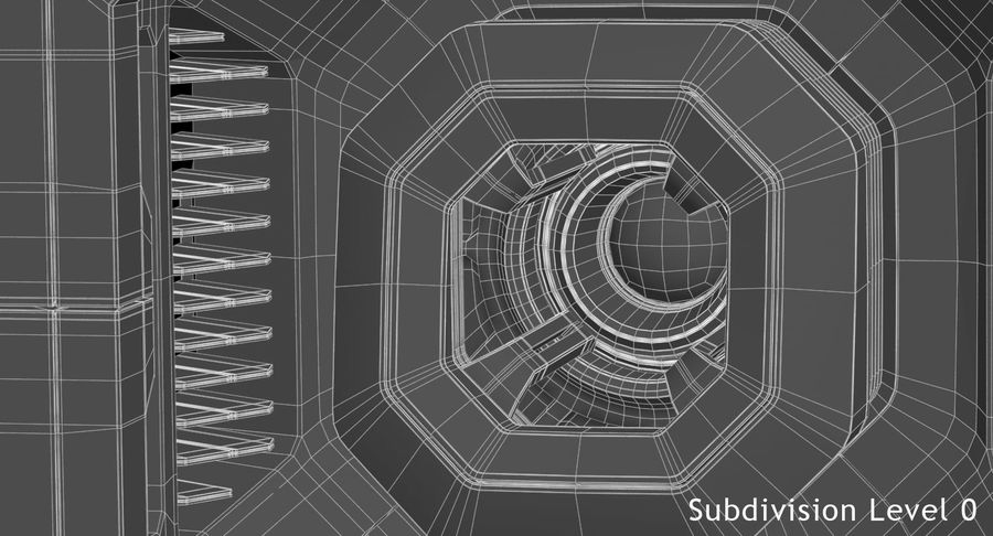 Sci Fi Box royalty-free 3d model - Preview no. 16