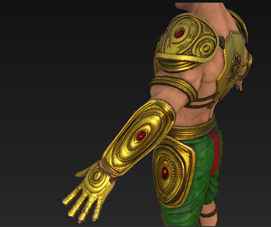 Ancien guerrier royalty-free 3d model - Preview no. 12