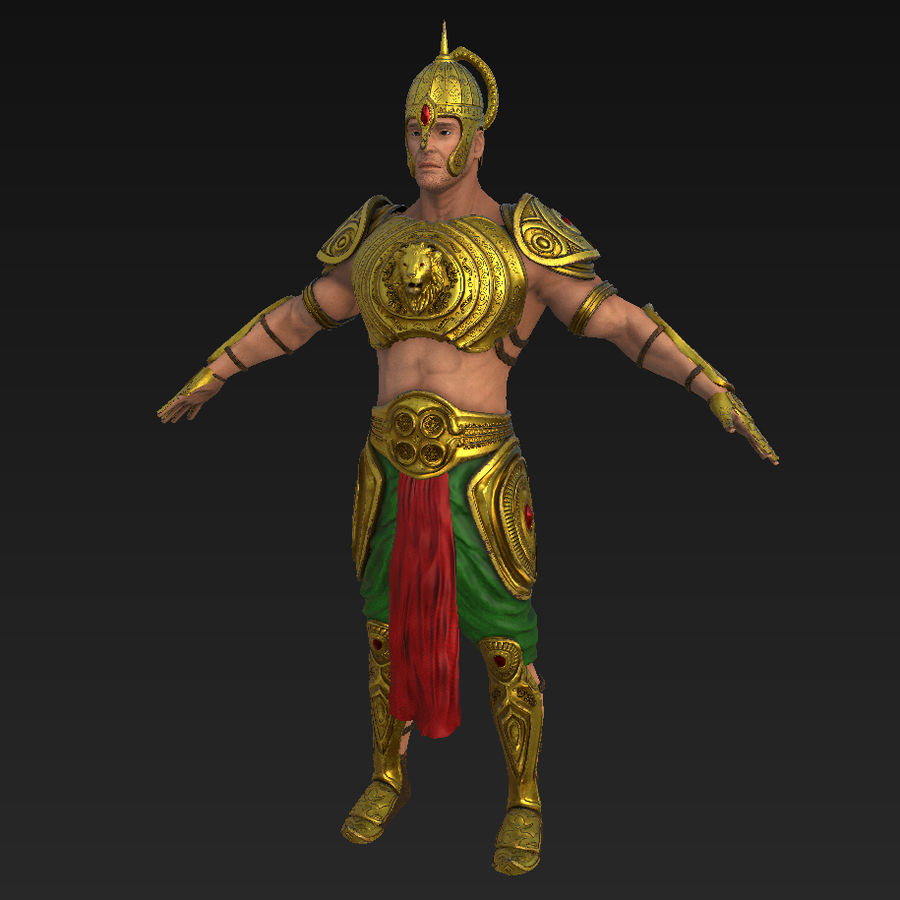 Ancien guerrier royalty-free 3d model - Preview no. 1