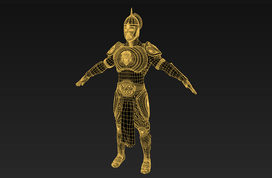Ancien guerrier royalty-free 3d model - Preview no. 2