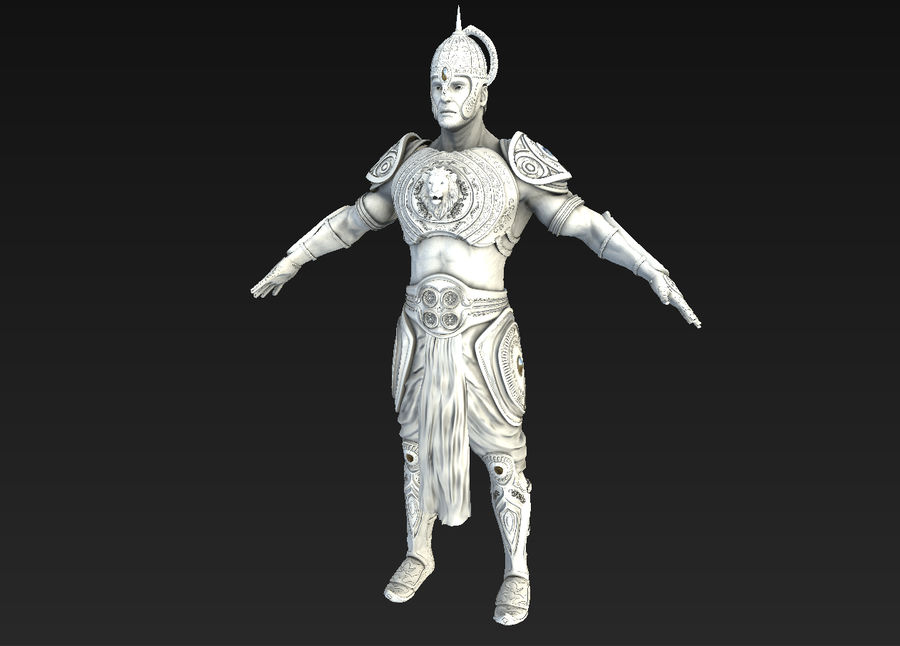 Ancien guerrier royalty-free 3d model - Preview no. 3