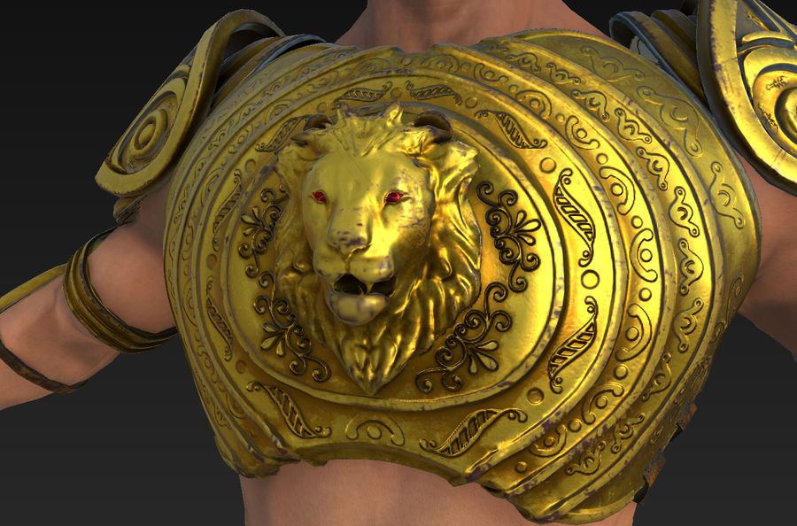 Ancien guerrier royalty-free 3d model - Preview no. 9