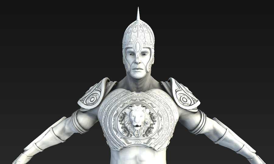 Ancien guerrier royalty-free 3d model - Preview no. 4