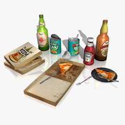 Accessoires de jeu: Set de nourriture 3d model