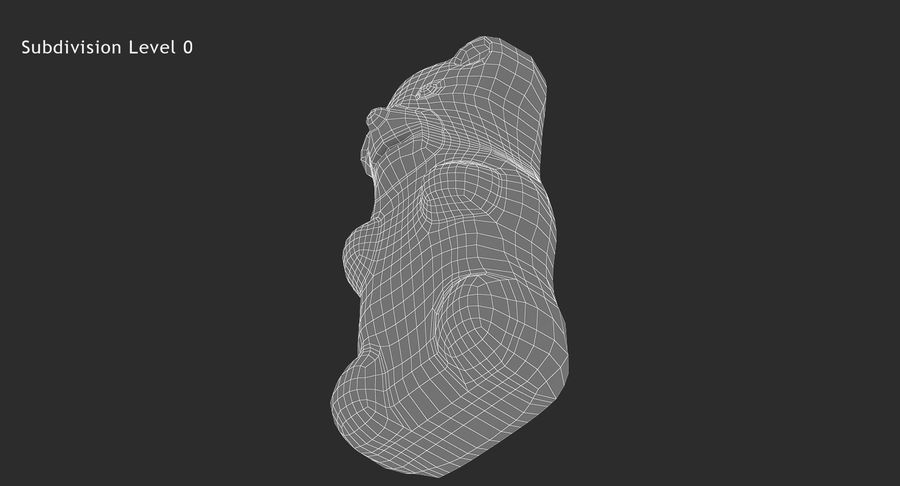 Gummy Bear royalty-free 3d model - Preview no. 16