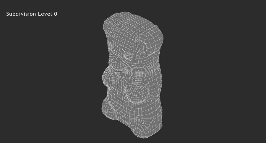 Gummy Bear royalty-free 3d model - Preview no. 14