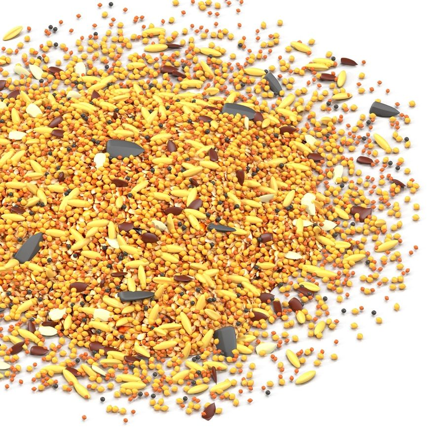 Wild Bird Food royalty-free 3d model - Preview no. 5