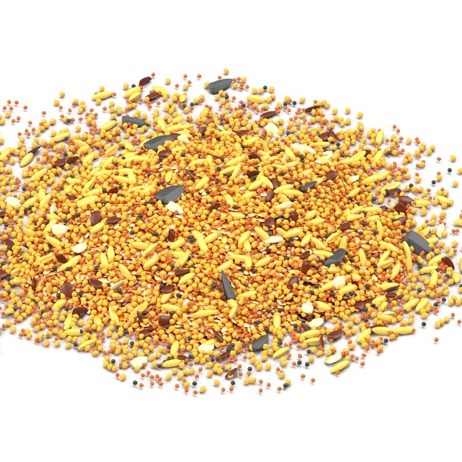 Wild Bird Food royalty-free 3d model - Preview no. 4