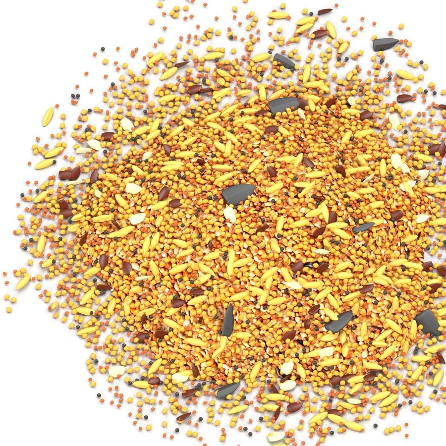 Wild Bird Food royalty-free 3d model - Preview no. 6