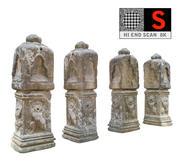 Ancient Column Cambodia 3d model