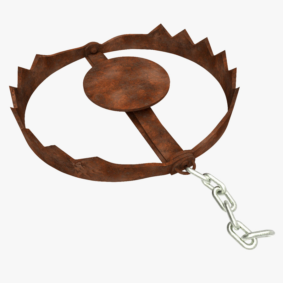 Rusty Bear Trap royalty-free 3d model - Preview no. 1