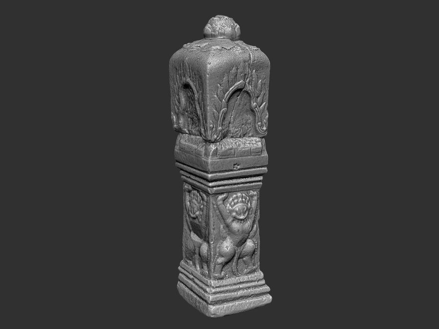 Starożytna kolumna Kambodża 8K royalty-free 3d model - Preview no. 9