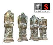 Ancient Column Cambodia 8K 3d model