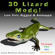 Lizard 3D Lowpoly Model Rigged & Animated 3d model
