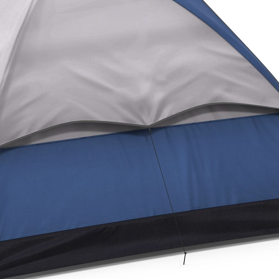 Camping Tent Blue royalty-free 3d model - Preview no. 16