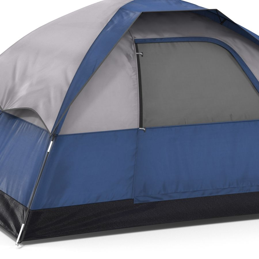 Camping Tent Blue royalty-free 3d model - Preview no. 12