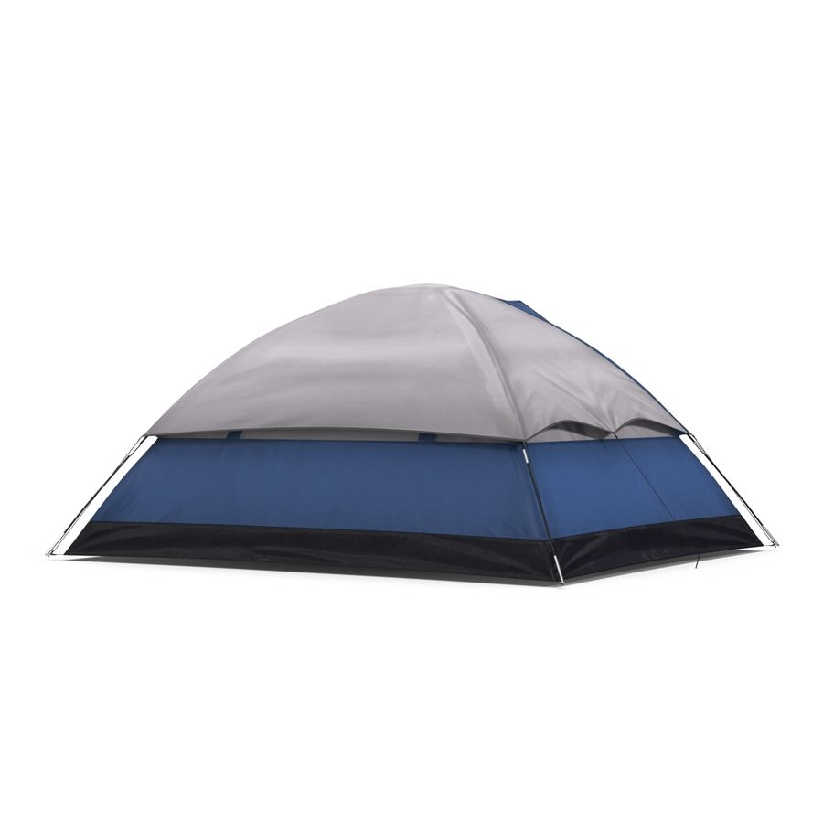 Camping Tent Blue royalty-free 3d model - Preview no. 4