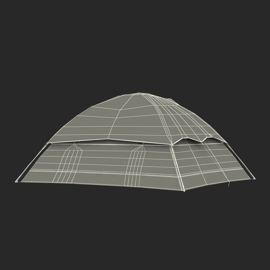 Camping Tent Blue royalty-free 3d model - Preview no. 27