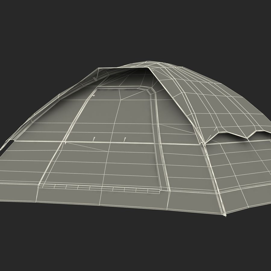 Camping Tent Blue royalty-free 3d model - Preview no. 31