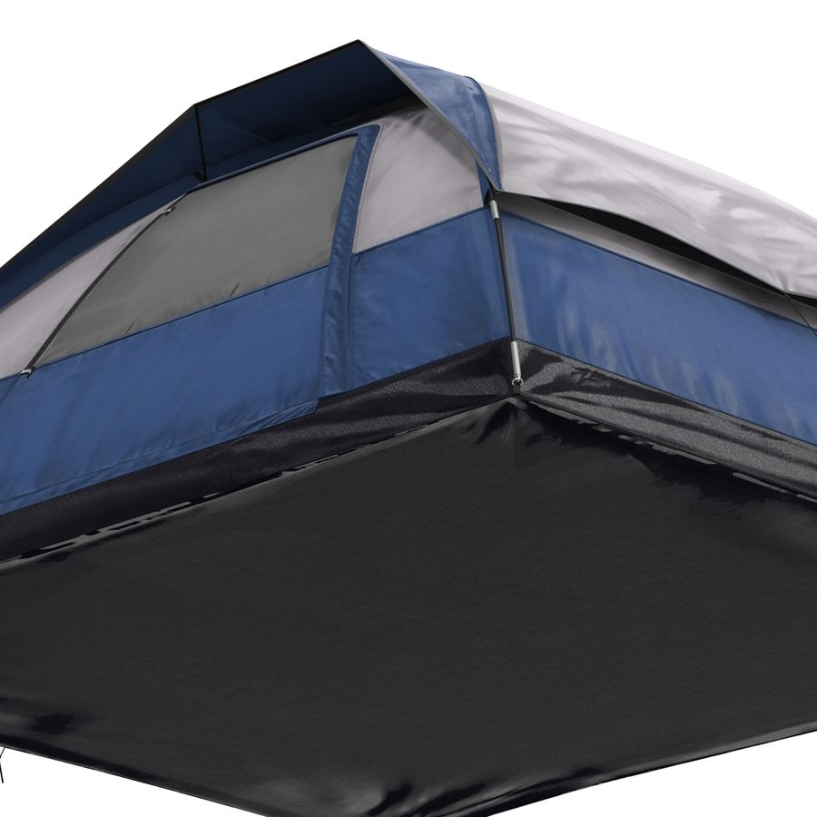 Camping Tent Blue royalty-free 3d model - Preview no. 20