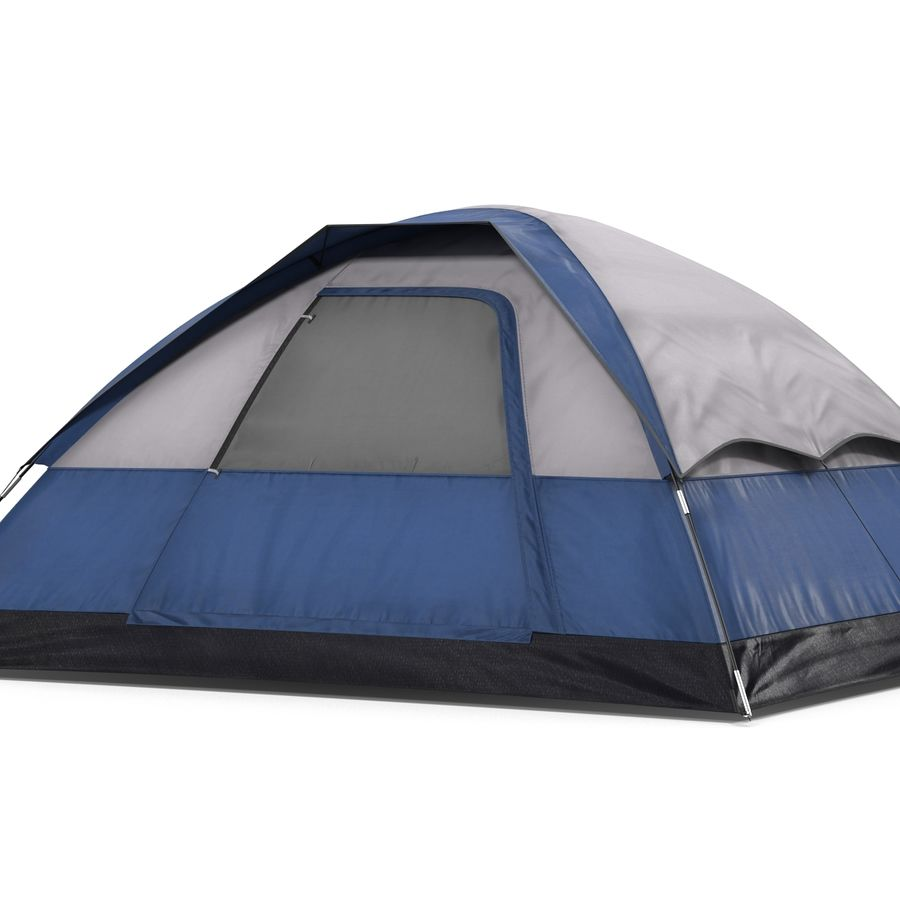 Camping Tent Blue royalty-free 3d model - Preview no. 9