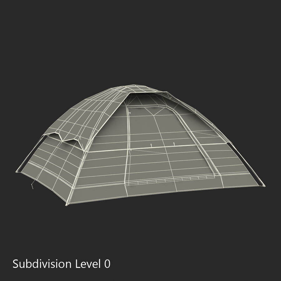 Camping Tent Blue royalty-free 3d model - Preview no. 21