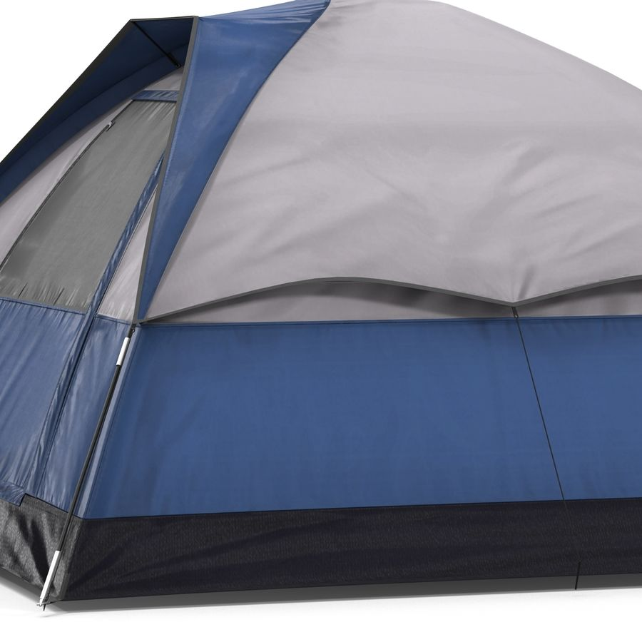 Camping Tent Blue royalty-free 3d model - Preview no. 15