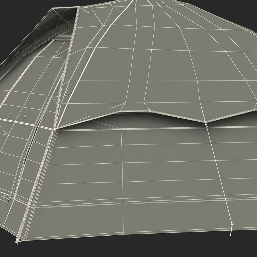 Camping Tent Blue royalty-free 3d model - Preview no. 37