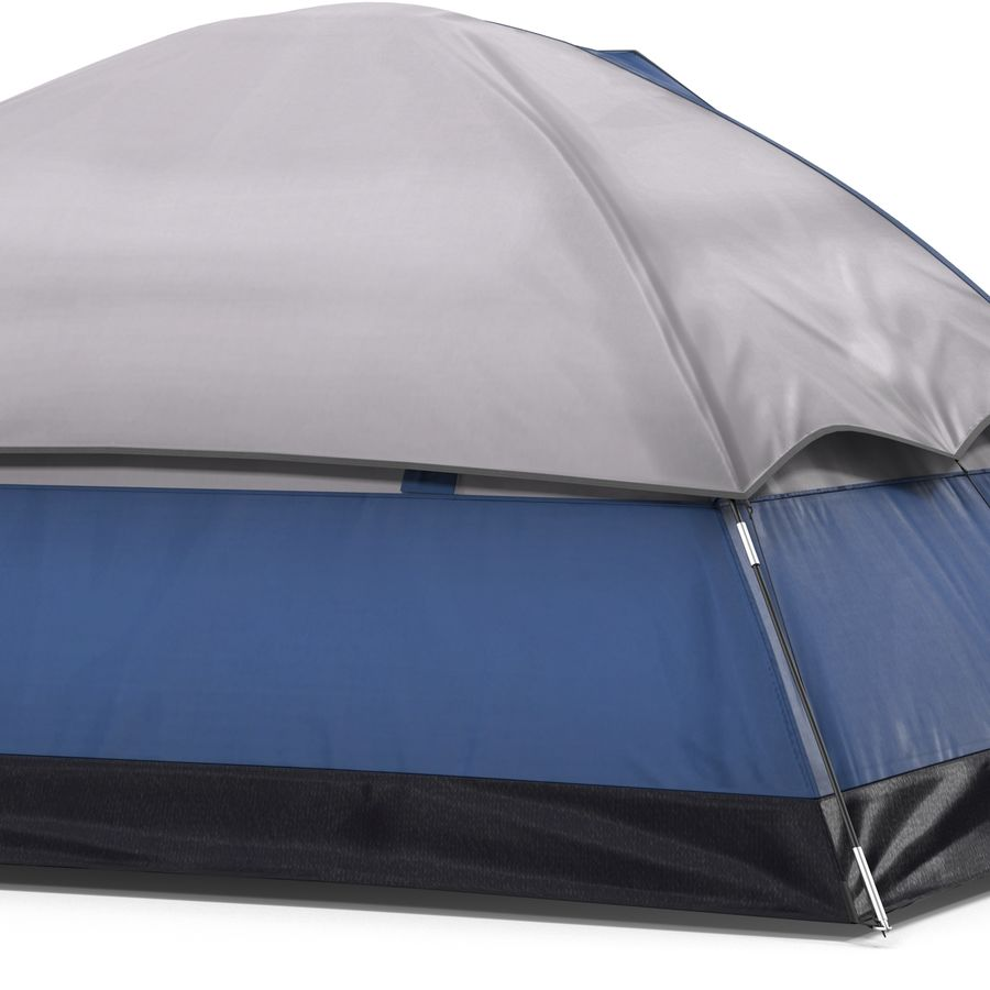 Camping Tent Blue royalty-free 3d model - Preview no. 17