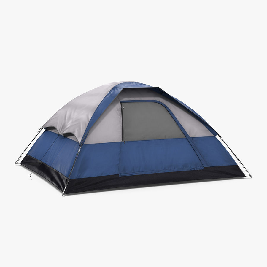 Camping Tent Blue royalty-free 3d model - Preview no. 1