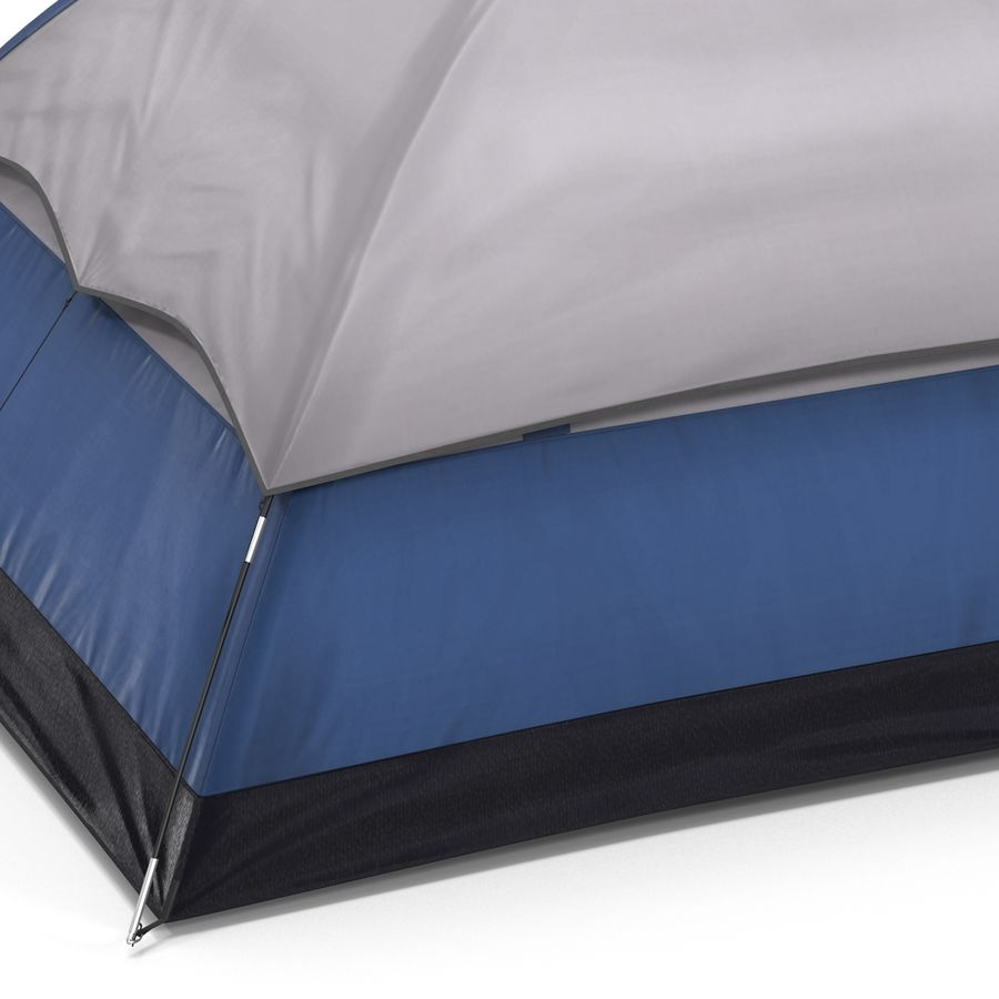 Camping Tent Blue royalty-free 3d model - Preview no. 19