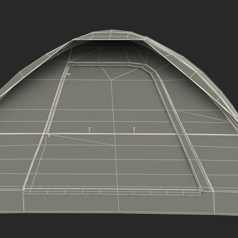 Camping Tent Blue royalty-free 3d model - Preview no. 33