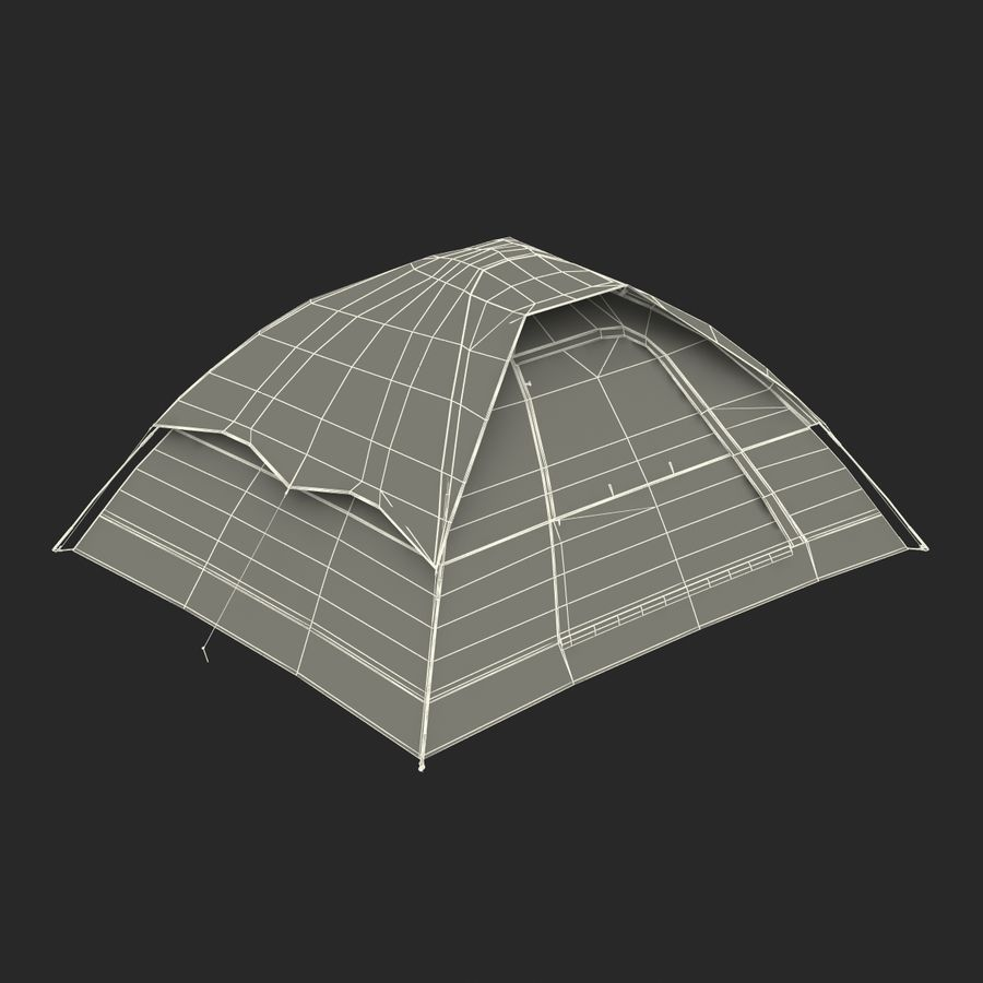 Camping Tent Blue royalty-free 3d model - Preview no. 26