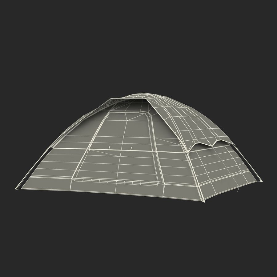 Camping Tent Blue royalty-free 3d model - Preview no. 29