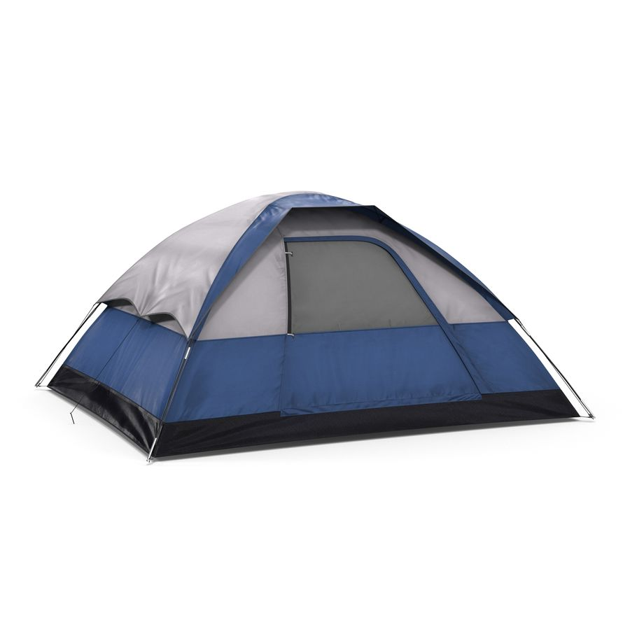 Camping Tent Blue royalty-free 3d model - Preview no. 2