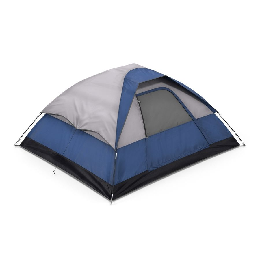 Camping Tent Blue royalty-free 3d model - Preview no. 3