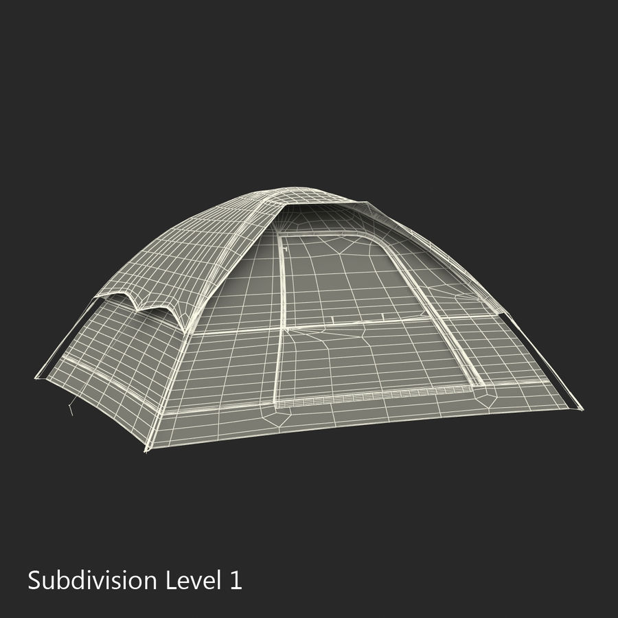 Camping Tent Blue royalty-free 3d model - Preview no. 22