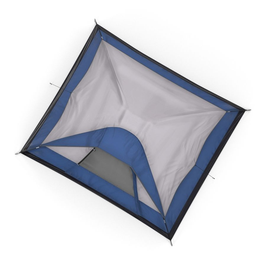 Camping Tent Blue royalty-free 3d model - Preview no. 7