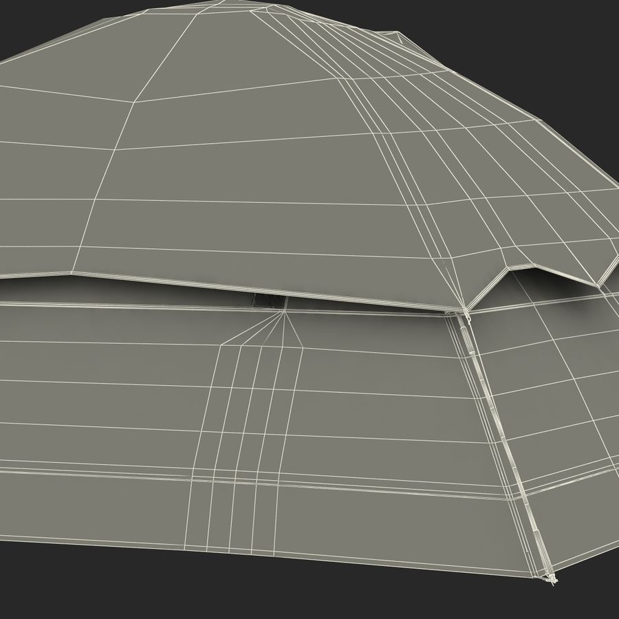 Camping Tent Blue royalty-free 3d model - Preview no. 39