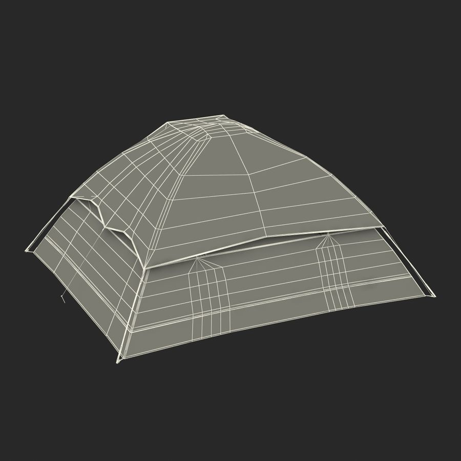 Camping Tent Blue royalty-free 3d model - Preview no. 28