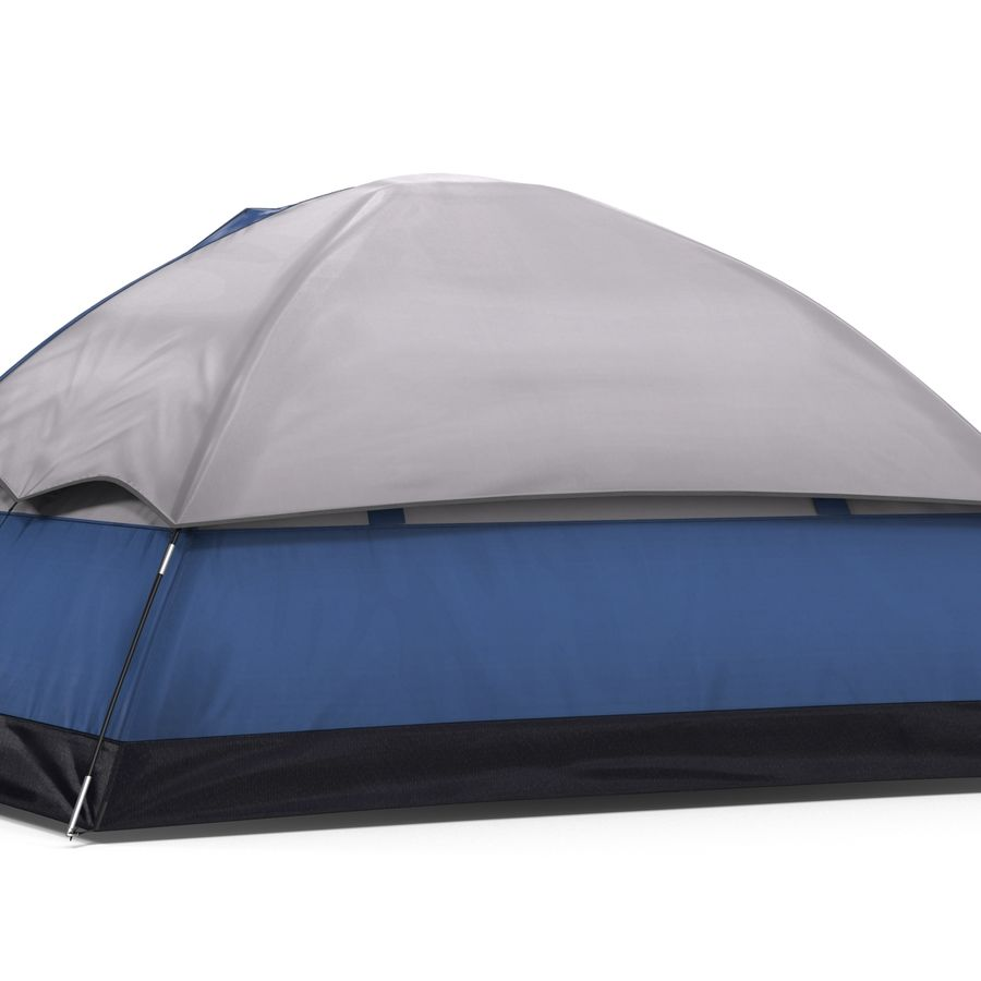 Camping Tent Blue royalty-free 3d model - Preview no. 10