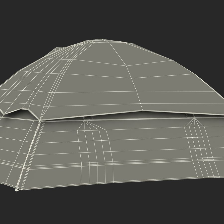 Camping Tent Blue royalty-free 3d model - Preview no. 32