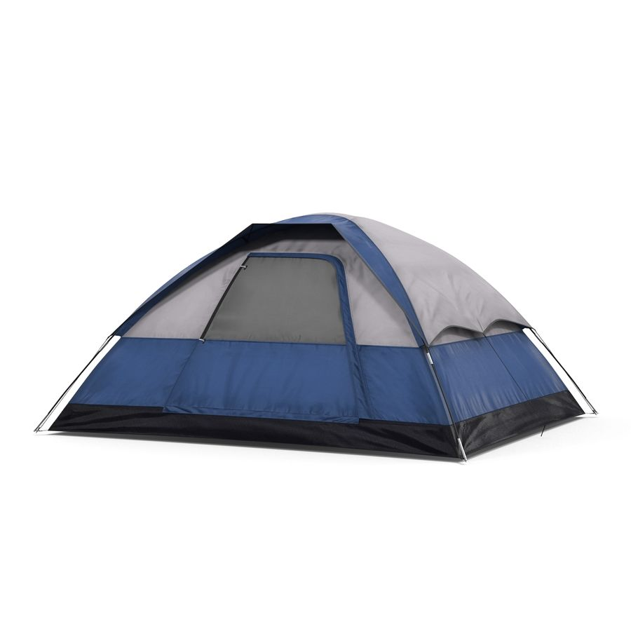 Camping Tent Blue royalty-free 3d model - Preview no. 6