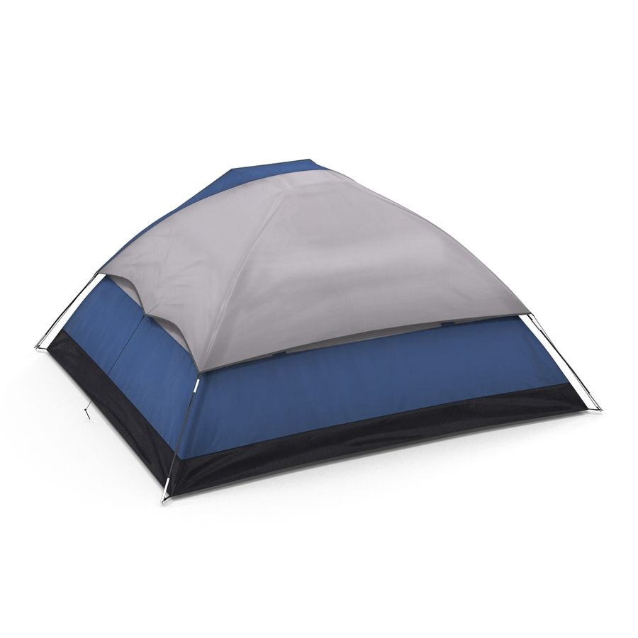 Camping Tent Blue royalty-free 3d model - Preview no. 5