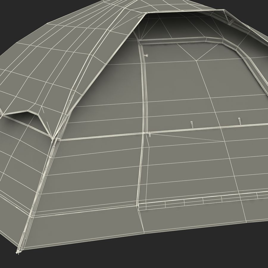 Camping Tent Blue royalty-free 3d model - Preview no. 34