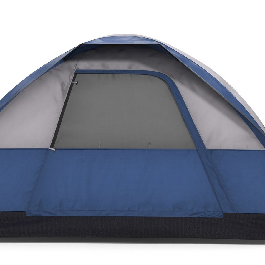 Camping Tent Blue royalty-free 3d model - Preview no. 11