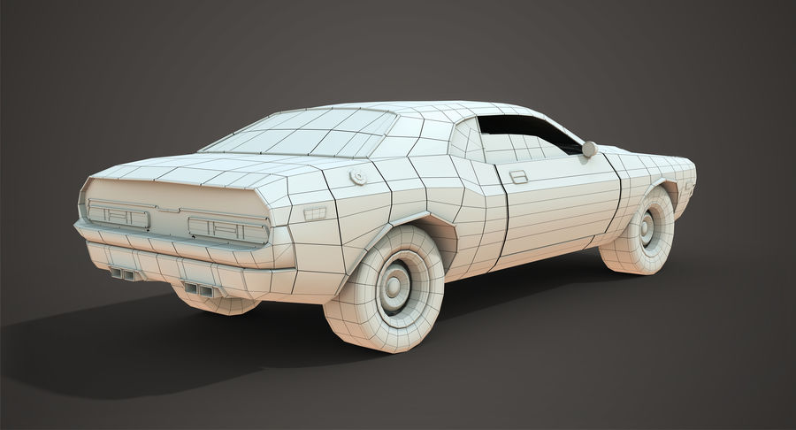 Dodge Challenger royalty-free 3d model - Preview no. 7