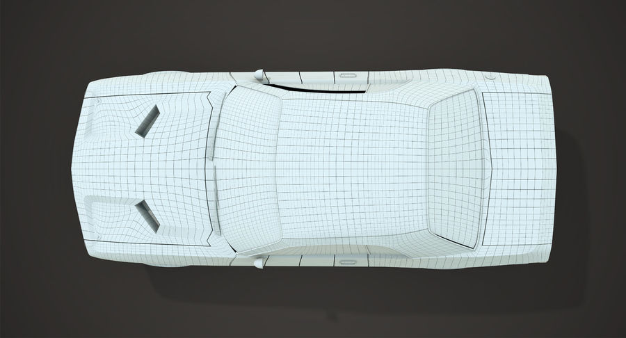 Dodge Challenger royalty-free 3d model - Preview no. 14